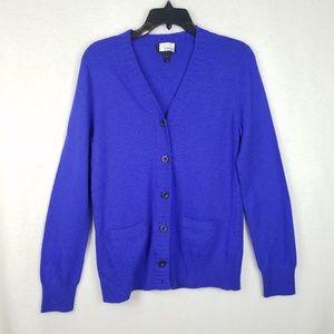 J. CREW Small cashmere wool blend cardigan